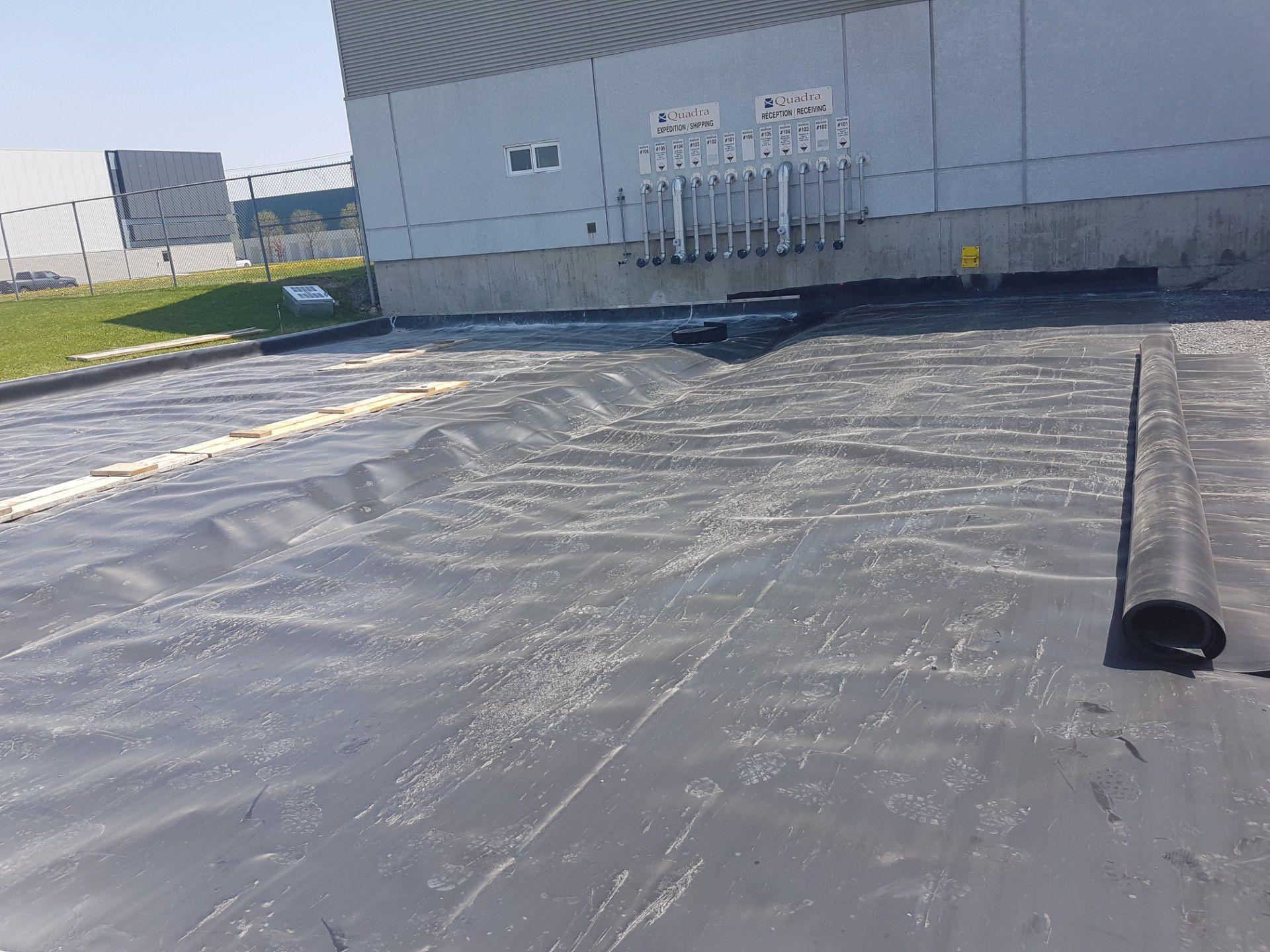 Membrane d'étanchéité quai de chargement