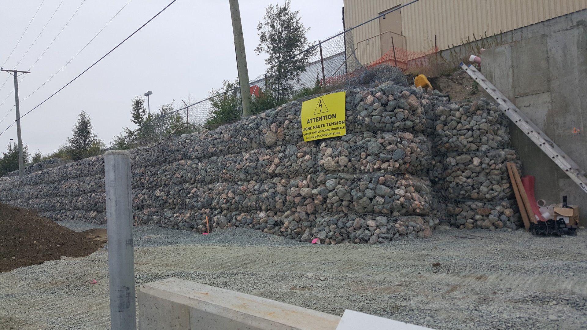 Mur gabion Rouyn Noranda