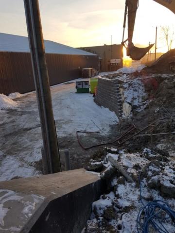 Travaux d'excavation égout pluvial
